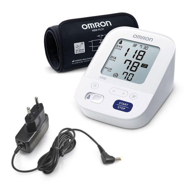Omron M3 Comfort digitális, felkaron működő automata vérnyomásmérő készülék adapterrel (1x)
